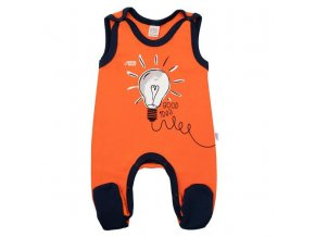 Dojčenské bavlnené dupačky New Baby Happy Bulbs
