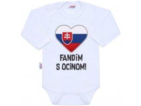 Body s potlačou New Baby Fandím s ocinom biele