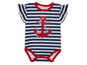 Dievčenské body s krátkym rukávom New Baby Marine