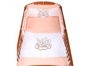 3-dielne posteľné obliečky New Baby Bunnies 100x135 oranžové