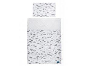 3-dielne posteľné obliečky Belisima Little Man 100/135 sivé