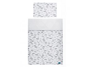 5-dielne posteľné obliečky Belisima Little Man 100/135 sivé