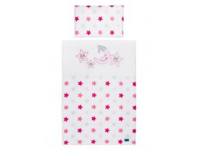 3-dielne posteľné obliečky Belisima Veselé Hviezdičky 90/120 ružové