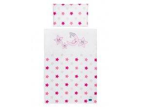 2-dielne posteľné obliečky Belisima Veselé Hviezdičky 100/135 ružové