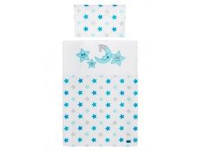 2-dielne posteľné obliečky Belisima Veselé Hviezdičky 100/135 modré