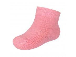 Dojčenské bavlnené ponožky New Baby ružové