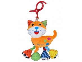 Detská plyšová hračka s vibráciou Baby Mix Mačka