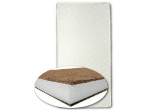 Detský matrac New Baby BASIC 120x60x8 kokos-molitan-kokos biely