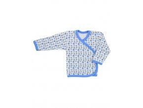 Dojčenská košieľka Koala Magnetky modrá s labkami