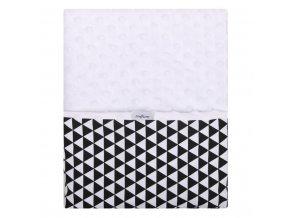 Detská obojstranná deka z Minky Womar 75x100  čierno-biela