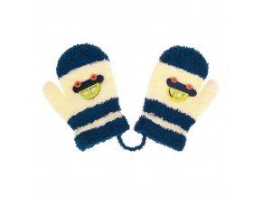 Detské rukavičky New Baby s autom tmavo modré