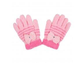 Detské zimné froté rukavičky New Baby svetlo ružové