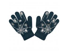 Detské zimné rukavičky New Baby s pavúkom tmavo modré