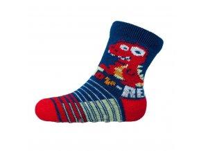 Dojčenské ponožky New Baby s ABS tmavo modré toy rex