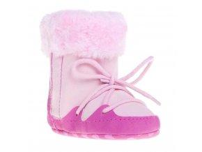 Detské zimné capáčky Bobo Baby 6-12m ružové