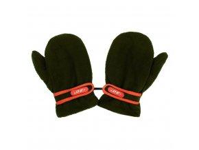 Detské rukavičky New Baby fleecové tmavo zelené
