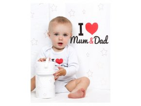 Termoobal Standard New Baby I love Mum and Dad biely