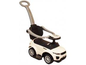 Detské hrajúce vozítko 3v1 Baby Mix biele