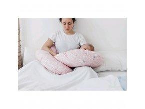 Univerzálny dojčiaci vankúš v tvare C New Baby Sovičky bežový