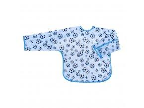 Detský podbradník s rukávmi Akuku modrý s loptou