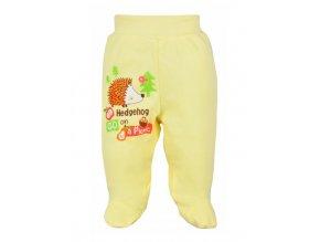 Dojčenské polodupačky Bobas Fashion Ježko žlté