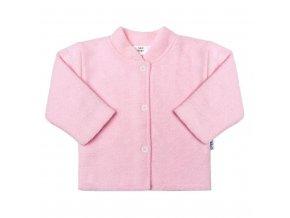 Dojčenský froté kabátik New Baby ružový