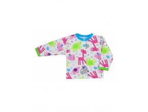 Dojčenský kabátik Bobas Fashion Zoo tyrkysový
