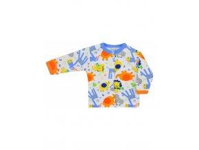 Dojčenský kabátik Bobas Fashion Zoo modrý