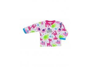 Dojčenský kabátik Bobas Fashion Zoo ružový