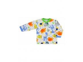 Dojčenský kabátik Bobas Fashion Zoo zelený pre chlapcov