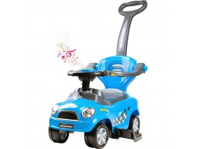 Detské hrajúce jazdítko-odrážadlo 3v1 Bayo Super Coupe blue