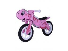 Detské odrážadlo-bicykel Milly Mally DINO pink