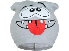 Jarná detská čiapočka New Baby smejko sivá