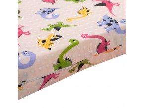 Penový matrac (ružový) s obrázkami