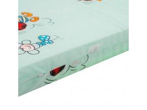 Detská penová matrac zelená - rôzne obrázky