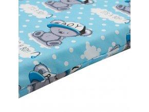 Detská penová matrac modrá - rôzne obrázky