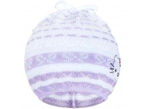 Pletená čiapočka-šatka New Baby mačička fialová