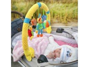 Hračka na kočík Baby Mix slniečko, myška, králiček