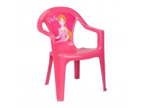 Detský záhradný nábytok - Plastová stolička ružová Giuly