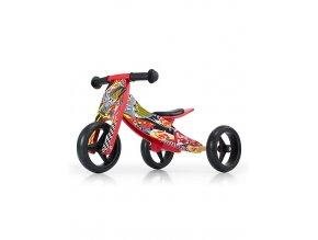 Detské multifunkčné odrážadlo bicykel 2v1 Milly Mally JAKE red