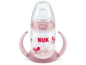 Dojčenská fľaša na učenie NUK 150 ml svetlo ružová motýľ