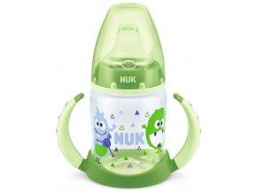 Dojčenská fľaša na učenie NUK 150 ml zelená monster