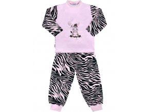 Detské bavlnené pyžamo New Baby Zebra s balónikom ružové