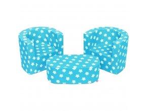 Detská sedacia súprava New Baby hviezdičky modrá