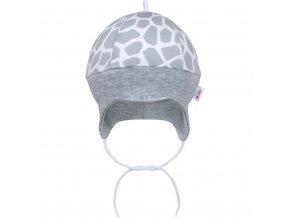 Dojčenská bavlnená čiapočka New Baby Žirafa