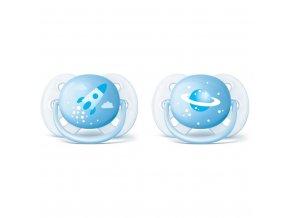 Dojčenský cumlík Ultrasoft Deco Avent 0-6 mesiacov - 2 ks chlapec