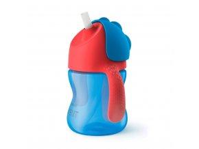 Kúzelný hrnček s ohybnou slamkou Avent 200 ml modrý