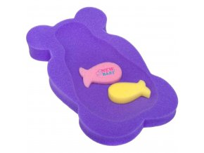 Penová podložka maxi New Baby medveď fialová