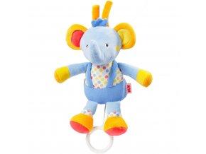 Detská plyšová hrajúca hračka Nuk sloník