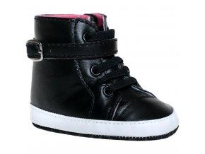 Detské capáčky Bobo Baby 6-12m čierne